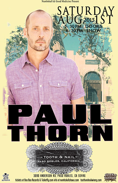 Paul Thorn at Tooth & Nail Winery